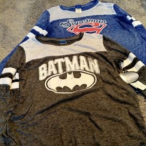 Tops - SALE!Set of two superhero tees Batman and Superman